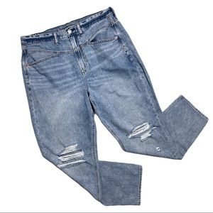 American Eagle Outfitters Mom Jeans Distressed 14